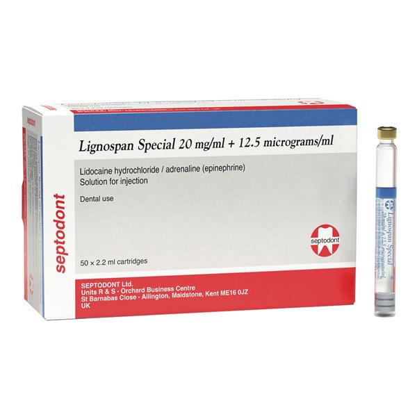 Lignospan Special 2% Glass Cartridges 2.2ml 50/PK