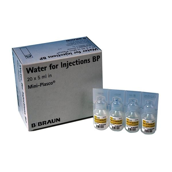 Water For Injection Mini-plasco 5ml Ampoule 20pk