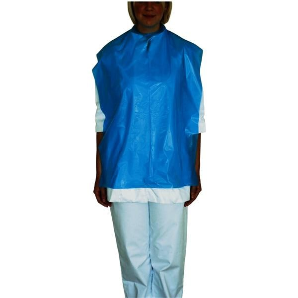 DEHP Patient Apron PE X/Long Blue 80x54cm 200roll - suitable for patient only