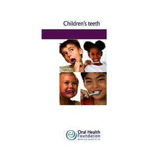 BDHF Leaflets Children's Teeth 100pk