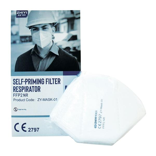 FFP2 Earloop Respirator Mask Non-Valved 50pk